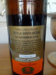 Vino Liquoroso per uso Sacramentale Bianco o Rosso