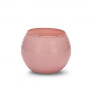 Sfera in vetro rosa cipria cm.7,5h diam.10