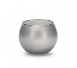 Sfera in vetro argento cm.7,5h diam.10