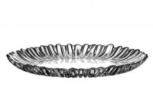 Vassoio piatto tondo in vetro Aurora cm.31,5x31,2x3,2h