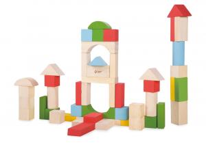 Blocchi in legno per costruzioni 50 pezzi