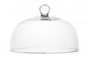 Campana cupola in vetro con pomello cm.17,5h diam.26