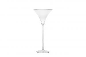 Coppa Martini grande in vetro cm.50h diam.25