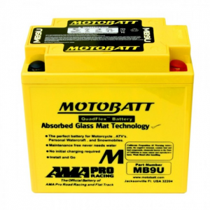 BATTERIA MOTOBATT SUPER PERFORMANTE 12V 11 AH 140 CCA MB9U E06014