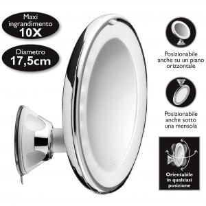 Macom 224 specchietto per trucco Cromo, Bianco