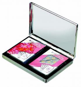 Portacarte da gioco in silver plated cm.15,5x11,5