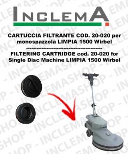 LIMPIA 1500 CARTUCCIA FILTRANTE 20-020 per monospazzola WIRBEL