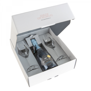 Gift Package Prosecco Superiore D.O.C.G. Brut Nature with 2 Wine glasses