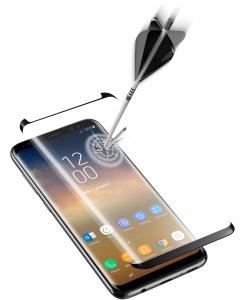 Cellularline Second Glass Curved Capsule - Galaxy S9+ Vetro temperato curvo, resistente e ultra sottile Trasparente.Nero