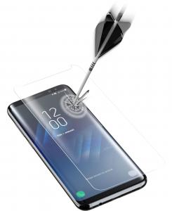 Cellularline Second Glass Curved Shape - Galaxy S8+ Vetro temperato curvo, resistente e ultra sottile Trasparente