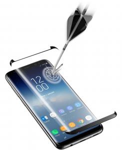 Cellularline Second Glass Curved Capsule box da 3 pz - Galaxy S9 3 Vetri temperati curvi, resistenti e ultra sottili Nero.Trasparente