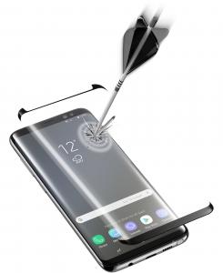 Cellularline Second Glass Curved Capsule - Galaxy Note 9 Vetro temperato curvo, resistente e ultra sottile Nero.Trasparente