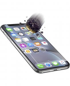 Cellularline Tetra Force Shield - iPhone XR Vetro ultra resistente e super sottile Trasparente