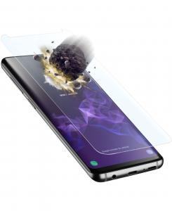 Cellularline Tetra Force Shield - Galaxy S9+ Vetro temperato curvo, ultra resistente e sottile Trasparente