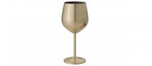 Calice Vino oro in acciaio inox cl 50 cm.21,1h diam.7,2