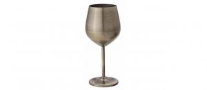 Calice Vino in acciaio inox CL 50 bronzo cm.21,1h diam.7,2