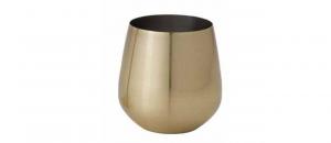Bicchiere acqua in acciaio inox cl 54 oro cm.9,9h diam.7,8