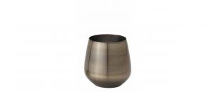 Bicchiere acqua in acciaio inox cl 54 bronzo cm.9,9h diam.7,8
