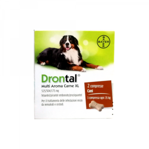 DRONTAL MULTI AROMA CARNE XL -  2cpr