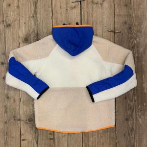 Giacca Nike in Pile Blu Arancio e Panna