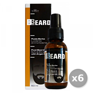 Set 6 BBEARD Fluido Barba Lucidante Ammorbidente 50 ml Profumi