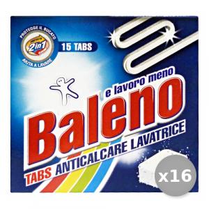 Set 16 BALENO Anticalcare Lavatrice X 15 Tabs Detergenti Casa