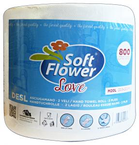 SOFT FLOWER * 1 Asciugatutto LOVE 800 Strappi Accessori da cucina