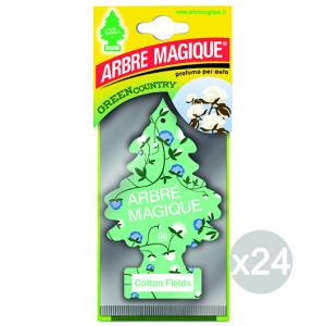 Set 24 ARBRE MAGIQUE Deodorante Cotton Fields Profumatore Per Auto