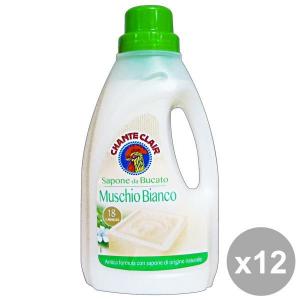 CHANTE CLAIR Set 12 Bucato Muschio Bianco 1 Lt Detergenti Casa