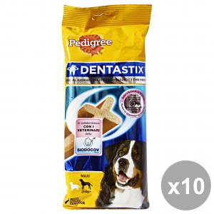 Set 10 PEDIGREE DENTASTIX Maxi X 7 Pezzi + 25 kg Cibo Per cani