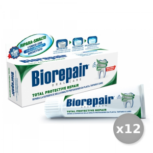 Set 12 BIOREPAIR Dentifricio TOTAL PROTECTIVE 75 ml Prodotti Per il Viso