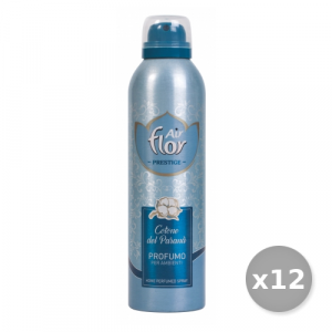 AIR FLOR Set 12 AIR FLOR Spray Prestigio Cotone 250 ml Deodorante Casa