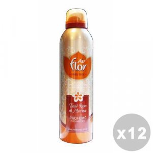 AIR FLOR Set 12 AIR FLOR Spray Prestigio Tiarè Rosa 250 ml Deodorante Casa