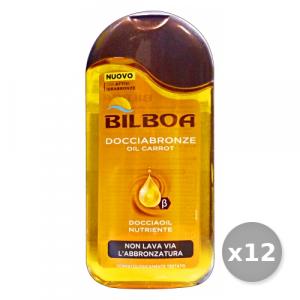 Set 12 BILBOA Doccia BRONZE Olio Di CAROTA 300 ml Saponi E Cosmetici