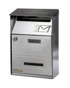 Cassetta Posta Acciaio Inox Cm Cm 21X32,5X8,5 Ferramenta