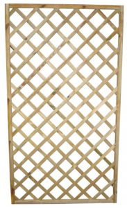 Griglia Diagonale Legno Impregnato Cm 120X4,4X180 Giardinaggio Arredo Giardino