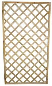 Griglia Diagonale Legno Impregnato Cm 90X3,5X180 Giardinaggio Arredo Giardino