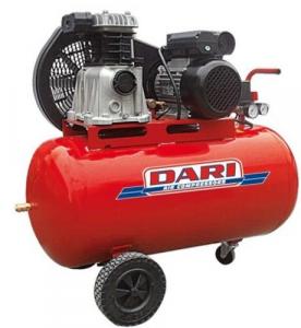 Compressore Dari Mistral Lt 100 Hp 2 M 1Cc-Cinghia Utensileria Ad Aria Compressa