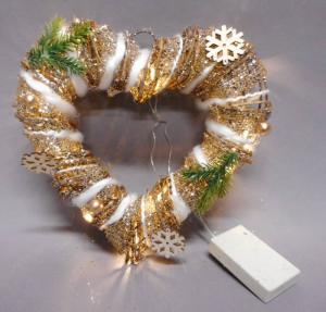 TABOR Cuore C/Filo Cotone Luc30Cm Luci E Decorazioni Luminose Natale Regalo 492