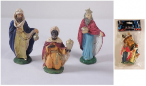 Busta 3 Re Magi 10Cm 10206 Presepe - Personaggi E Animali Natale Regalo 429