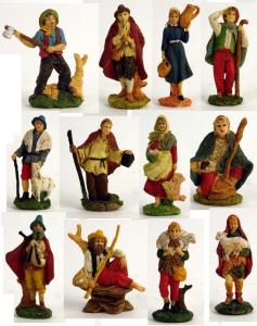 Busta 12 Pastori 10Cm 10260 Presepe - Personaggi E Animali Natale Regalo 552