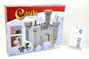 Castello Medioevale Medio Cm 50 X 40 Personaggi Playset Maschili Gioco Maschio 369
