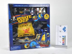 Nave Dei Pirati Cm 38 Personaggi Playset Maschili Gioco Maschio Bimbo Bambino 841
