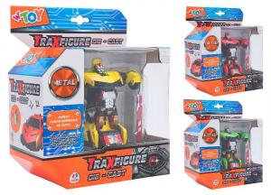 GLOBO Traxfigure Die Cast Robot > Auto 3 Col Personaggi Playset Maschili Gioco 330