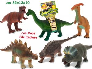 TEOREMA Dinosauri Soffici 6 Mdl Assortito Con Suono Gioco Maschio Bimbo Bambino 931