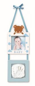 Babyimpronta Portafoto Con Impronta Appendere Azzurro Babympronta Cornice 204