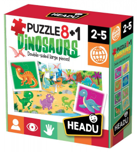 HEADU Puzzle 8+1 Dinosaurs 319