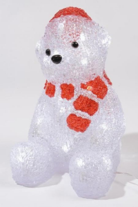 KAEMINGK Led Acrylic Bear C/Sc 492099 Luci E Decorazioni Luminose Natale Regalo 345
