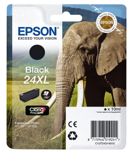 EPSON Cartuccia di inchiostro Nero Claria Photo HD 24 XL Elefante