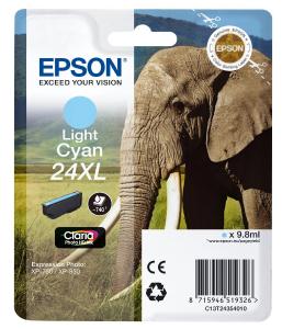 EPSON Cartuccia di inchiostro Ciano chiaro Claria Photo HD 24 XL Elefante